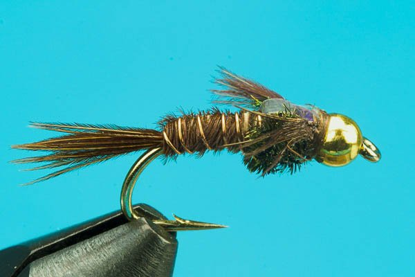 NYMPHS SIZES 1 DZ D16-7 BEAD HEAD FLASHBACK PHEASANT TAIL OLIVE SOFT HACKLE/'S