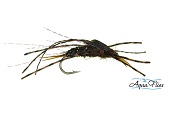 Brown Stone Brown Rubber Legs--By Aqua Flies