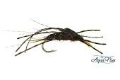 Brown Stone Brown Rubber Legs-Beadhead--By Aqua Flies