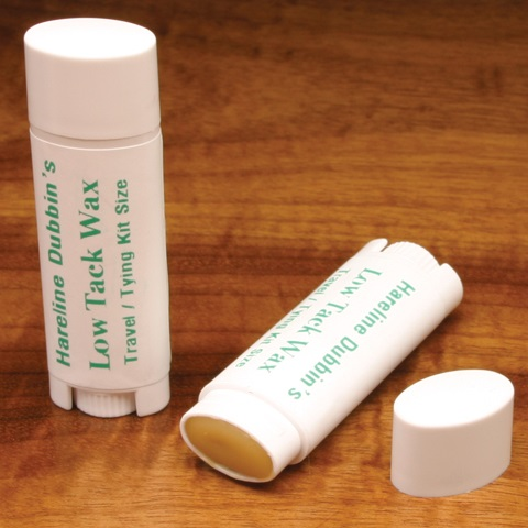 Hareline's Low Tack Wax Travel Oval Tube