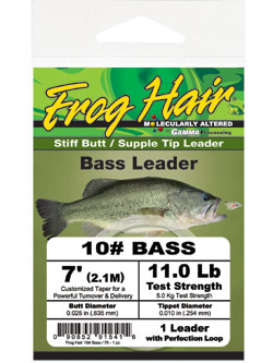 Frog Hair Bass Leader